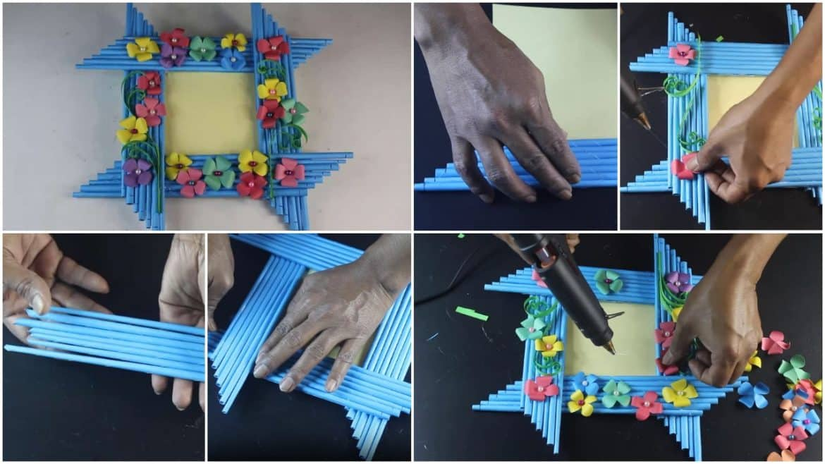 Make awesome photo frame out of paper sticks