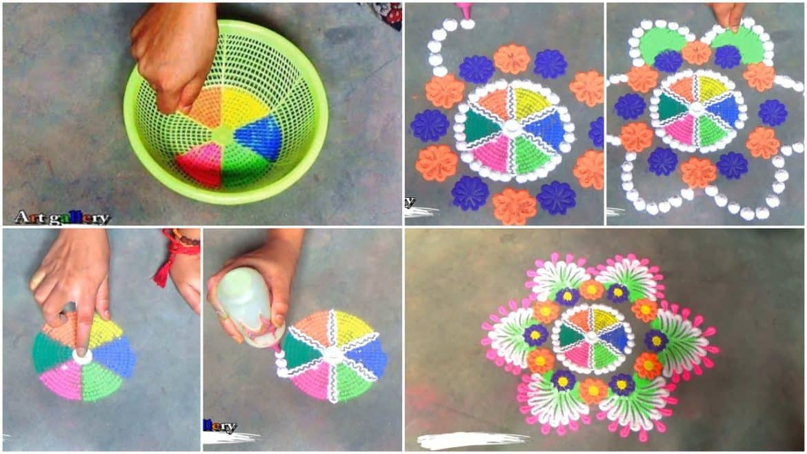 Creative art rangoli