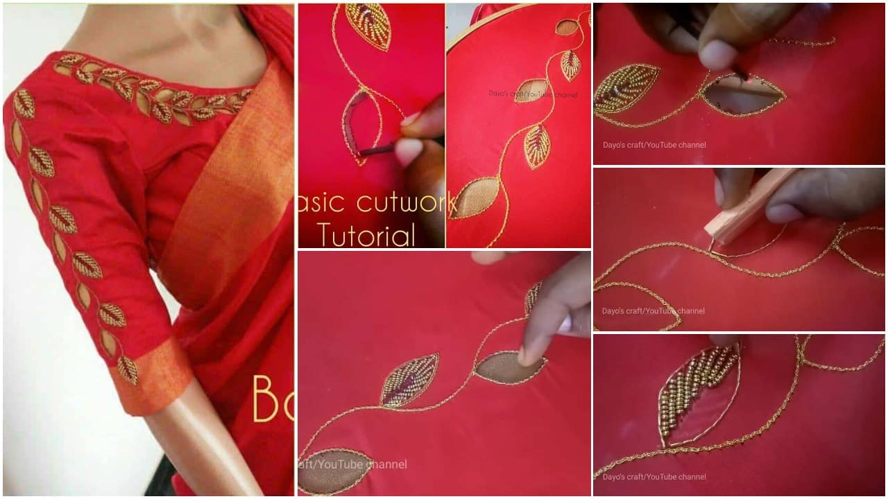 Basic cutwork tutorial for sleeve