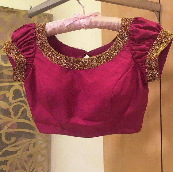 Trendy Silk Saree Blouse Designs Catalogue 2018 Simple