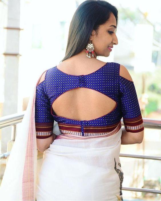 Stand Neck Blouse Designs : Trendy silk saree blouse designs catalogue simple