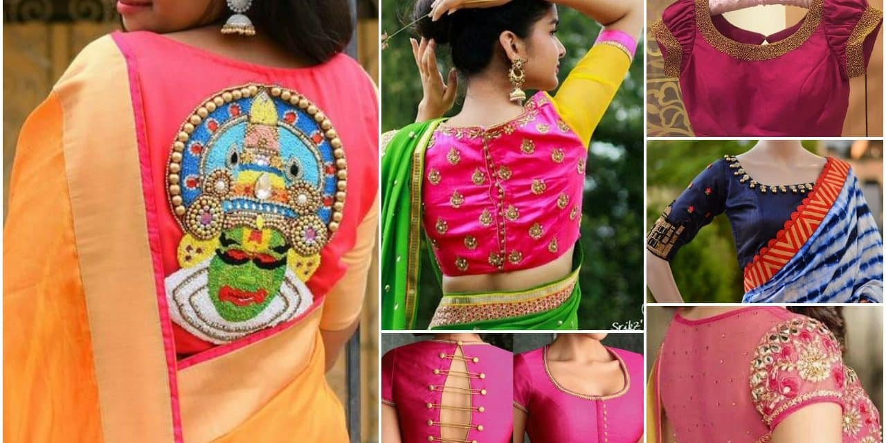 2019 year look- Blouses Designer for silk sarees