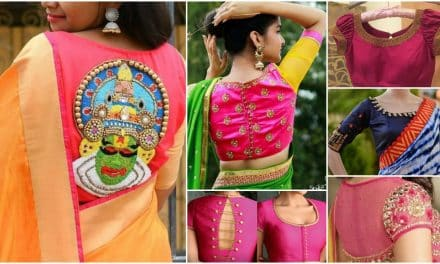 Trendy silk saree blouse designs catalogue 2018
