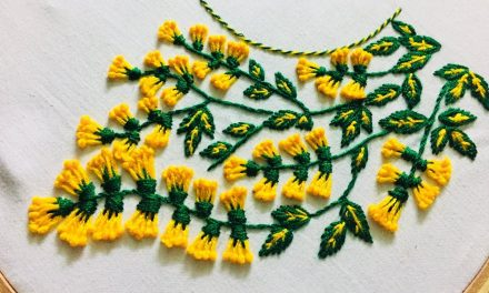 Hand embroidery neckline design