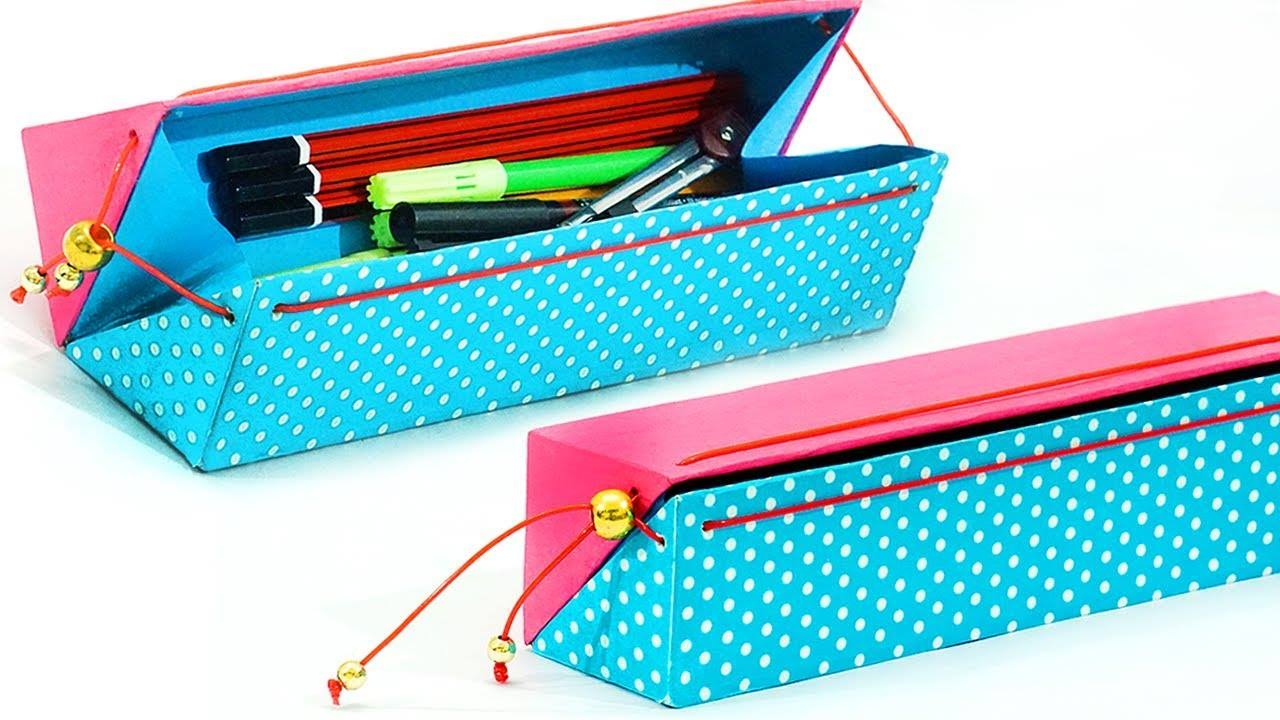 How to make pencil case from waste cardboard