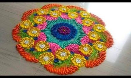 How to make easy and simple unique border rangoli designs