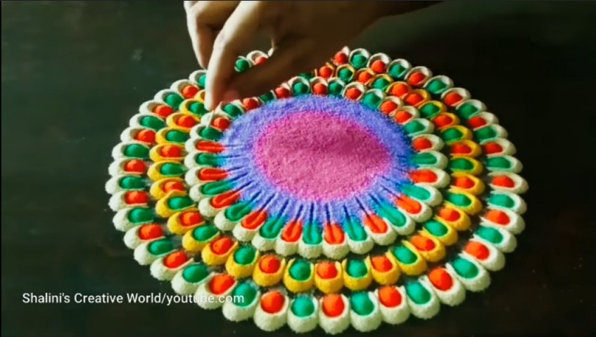 Easy rangoli for festivals
