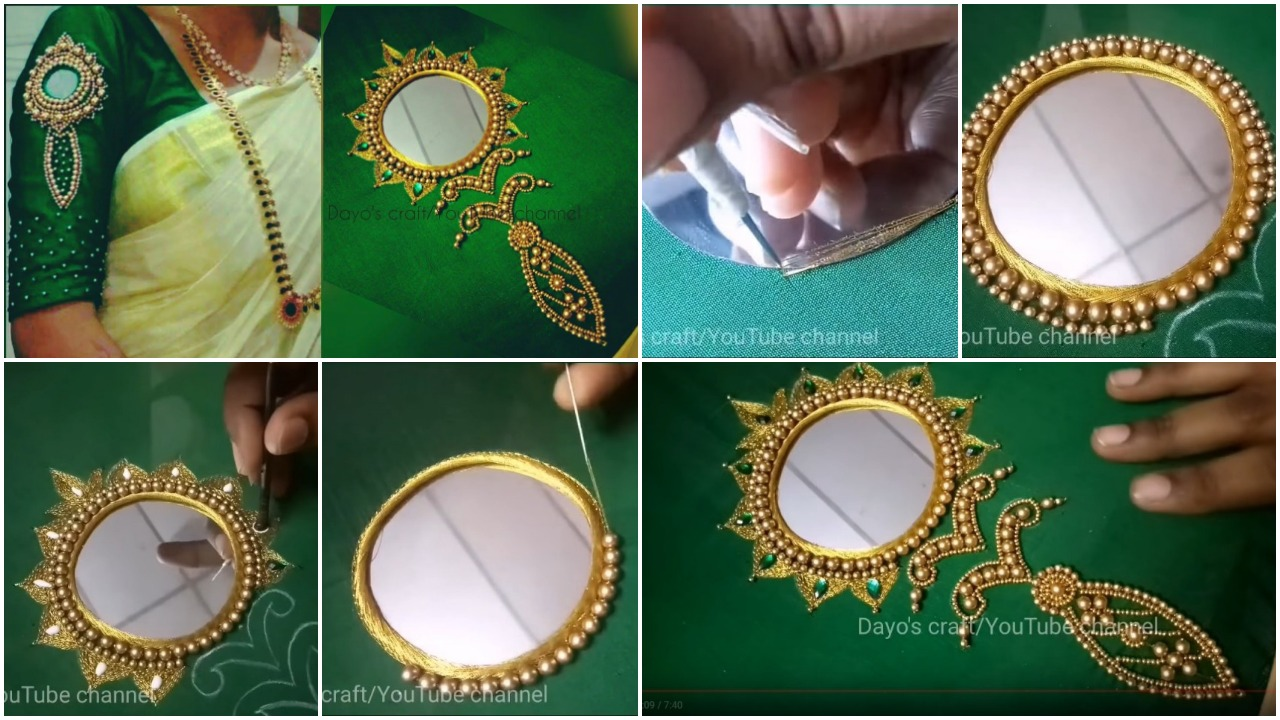 Vaal kannadi design work for blouse sleeve