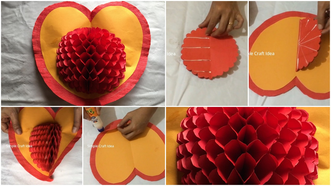 How to make honey comb pop-up card