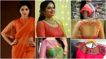 saree blouse back designs