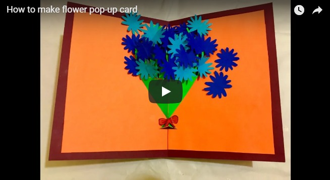 How to make flower pop-up card