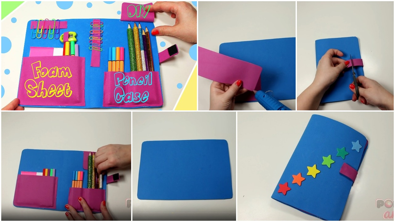 How to make a pencil case from foam sheet