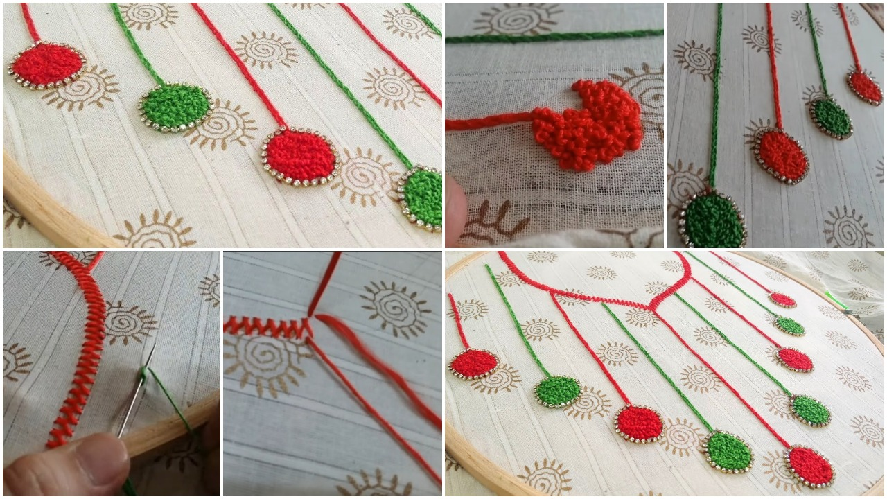 Neckline embroidery for kurti