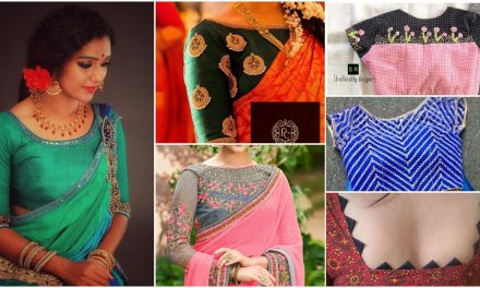 25 Trendy saree blouse designs