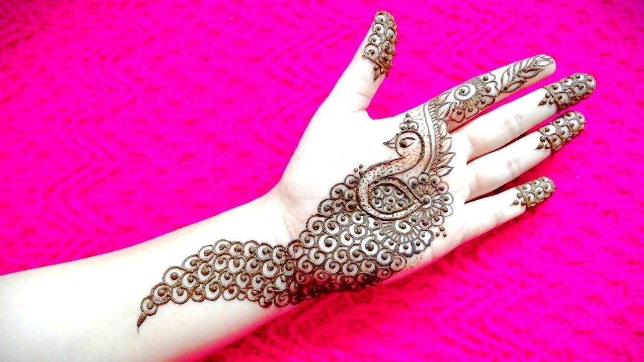 Peacock Mehndi Designs For Hands Kurti Blouse