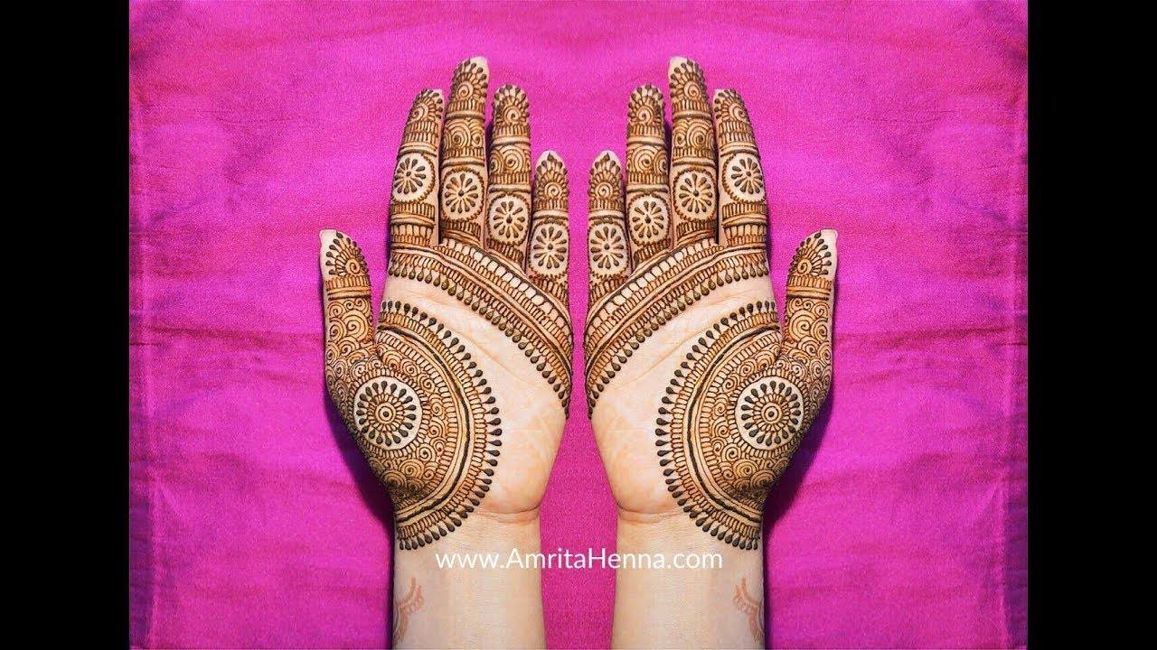 Latest beautiful mehendi design , Simple Craft Ideas
