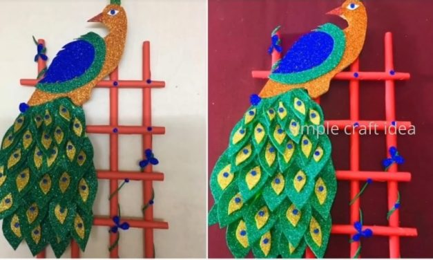 How to make a Beautiful and easy peacock wall hanging
