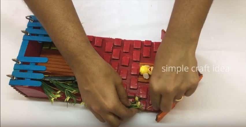 key holder with cardboard