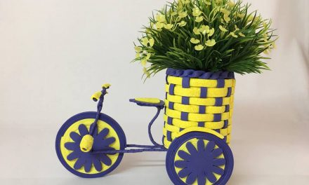 How to make decorative bicycle for flower pot holder