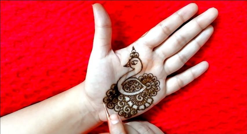 Peacock Mehandi Design