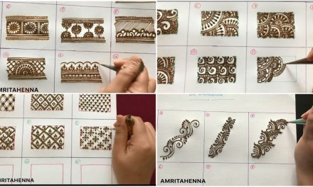 How to draw easy beautiful mehendi