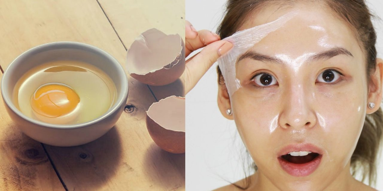 Skin glow with egg and egg white