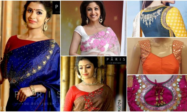 Trendy silk saree blouse designs