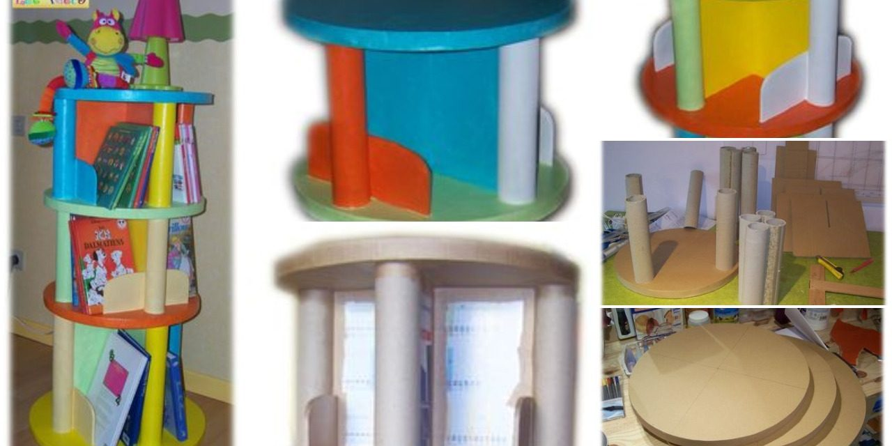 Colourful tower furniture for kids storage