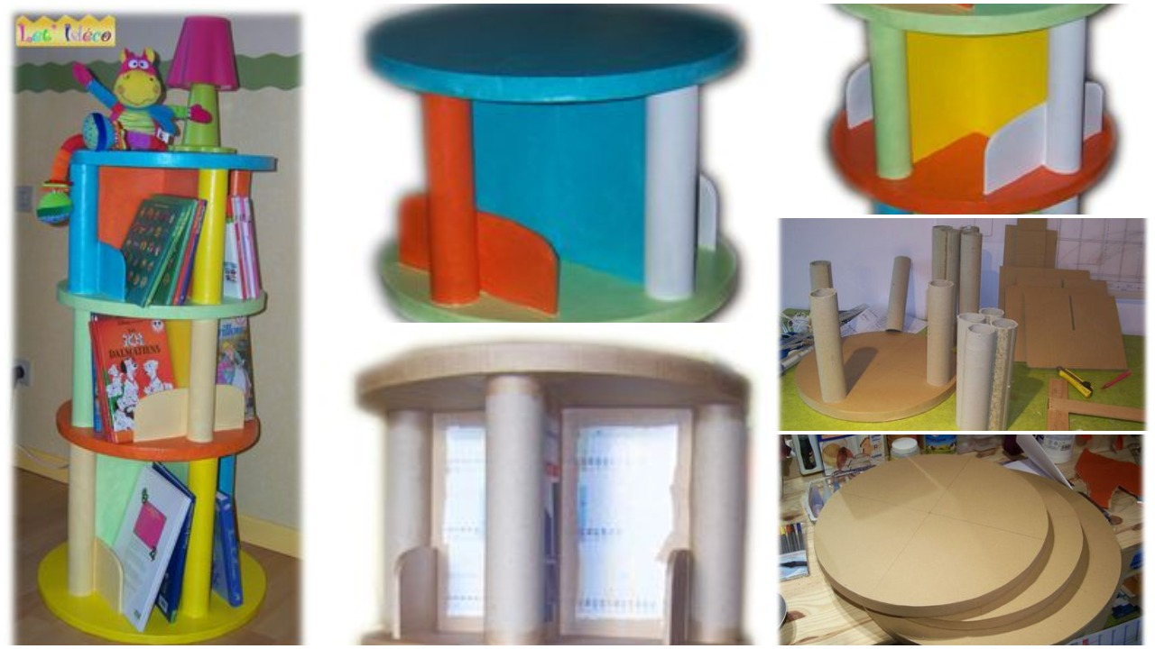 Colourful tower furniture