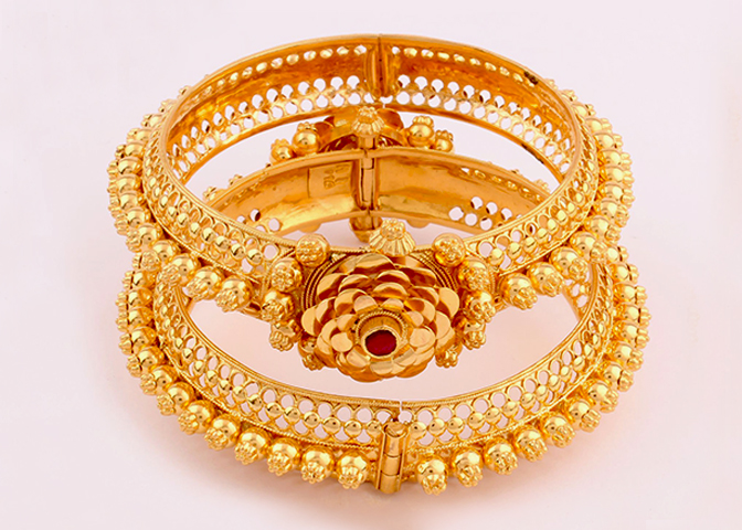 South Indian Bridal Traditional Gold Bangle Designs