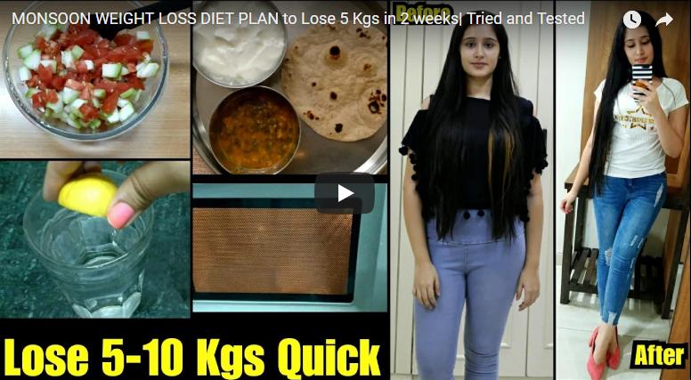 Monsoon weight loss diet plan to lose 5Kg in 2 week