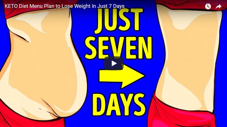 KETO Diet menu plan to lose weight in just 7 days