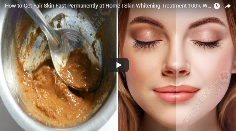 How to get fair skin fast permanently at home