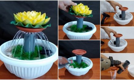 How to make tabletop water fountain using drinking straws
