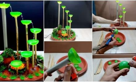 How to make tabletop fountain used small plastic balls