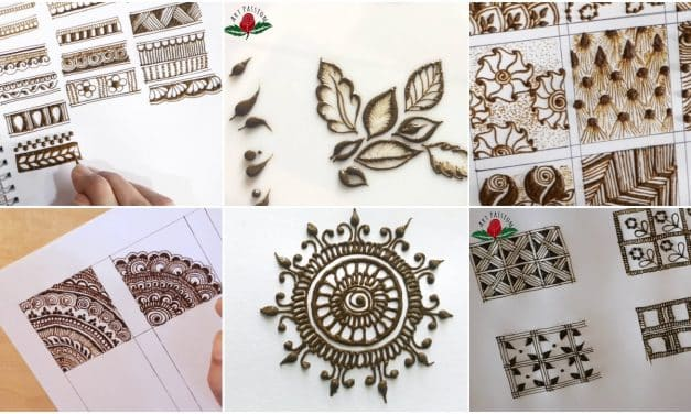 How to start a basic mehendi pattern