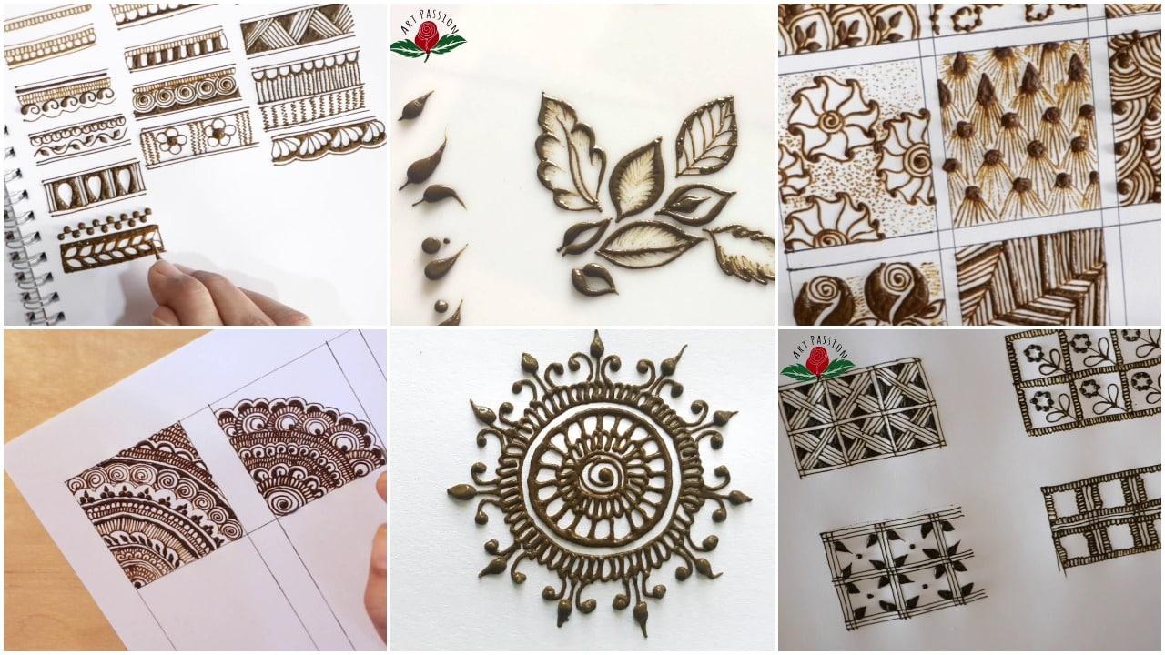 basic mehendi pattern