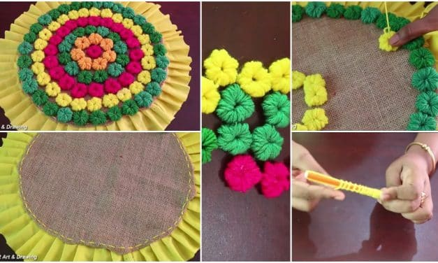 How to make doormat using woolen thread