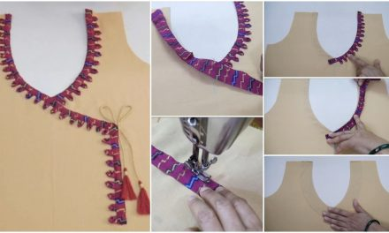 Latest stylish neck design cutting and stitching