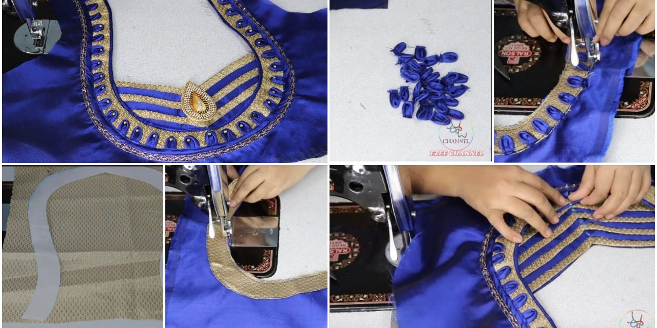 How to cut and stitch easy patch work design blouse