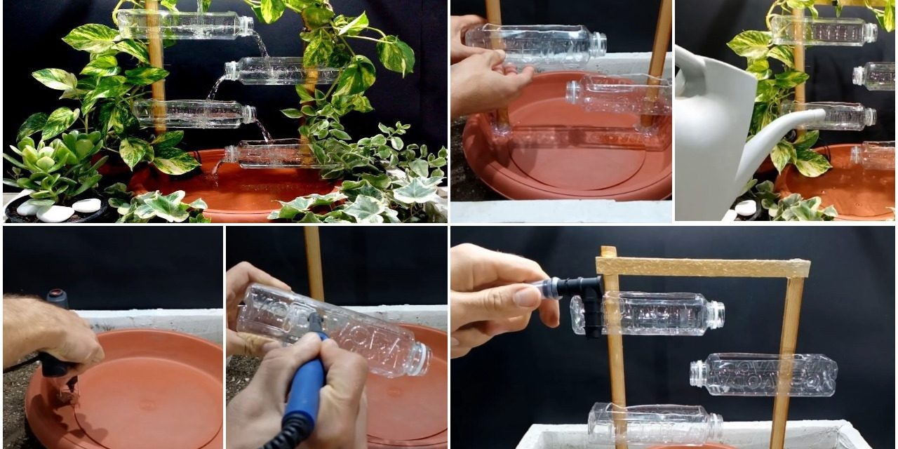 How to make terracotta fountain with plastic bottles