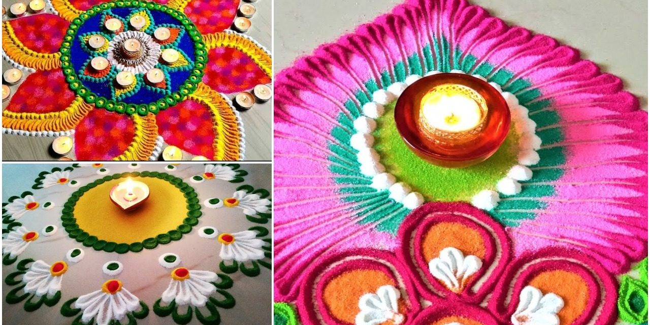 Colourful rangoli designs for diwali