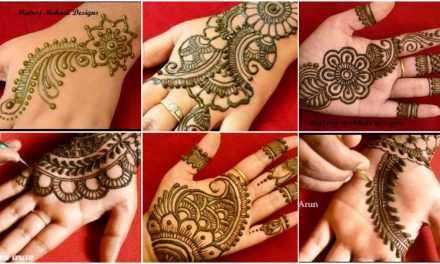 Easy mehndi design patterns