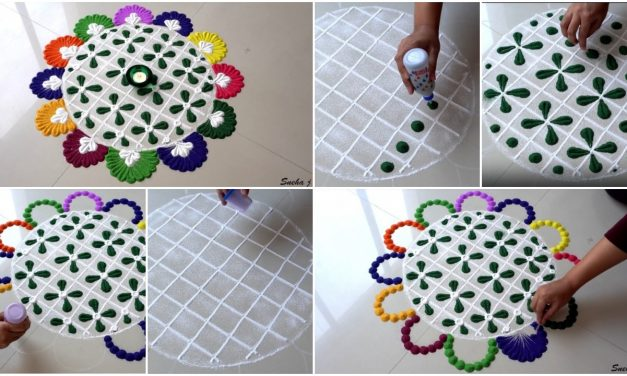 Diwali special easy and quick rangoli design