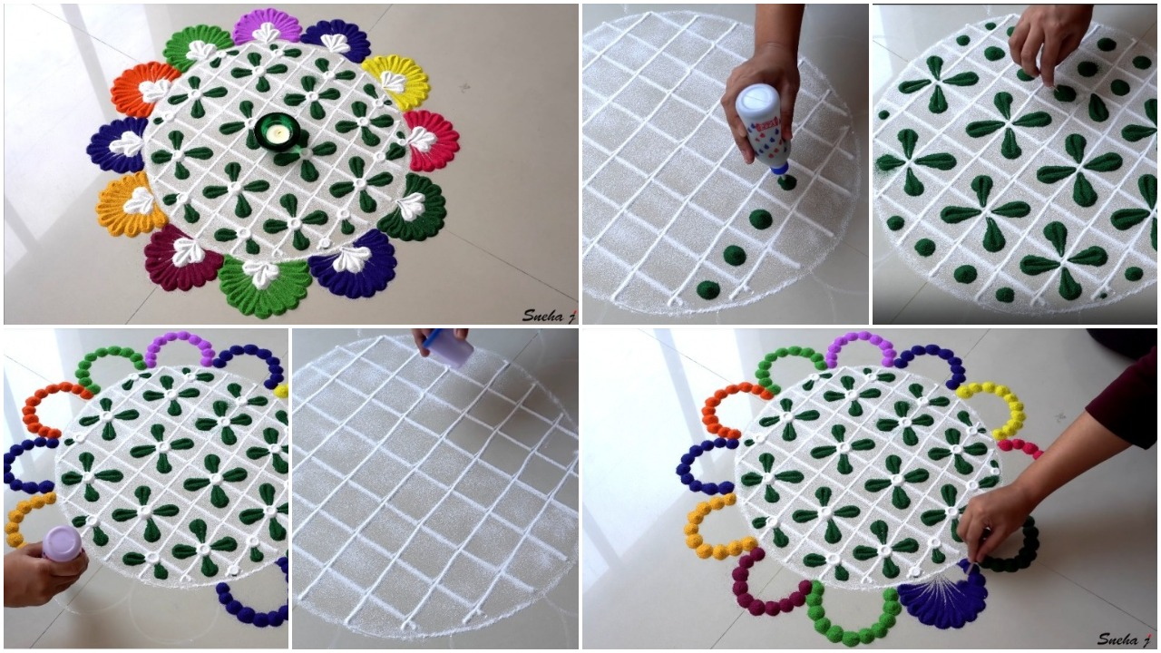 easy and quick rangoli design