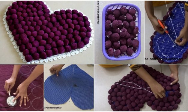 How to make door mat from old clothes