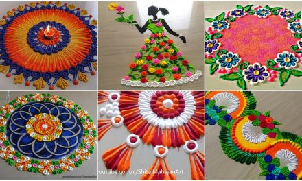 Very very innovative beautiful rangoli design