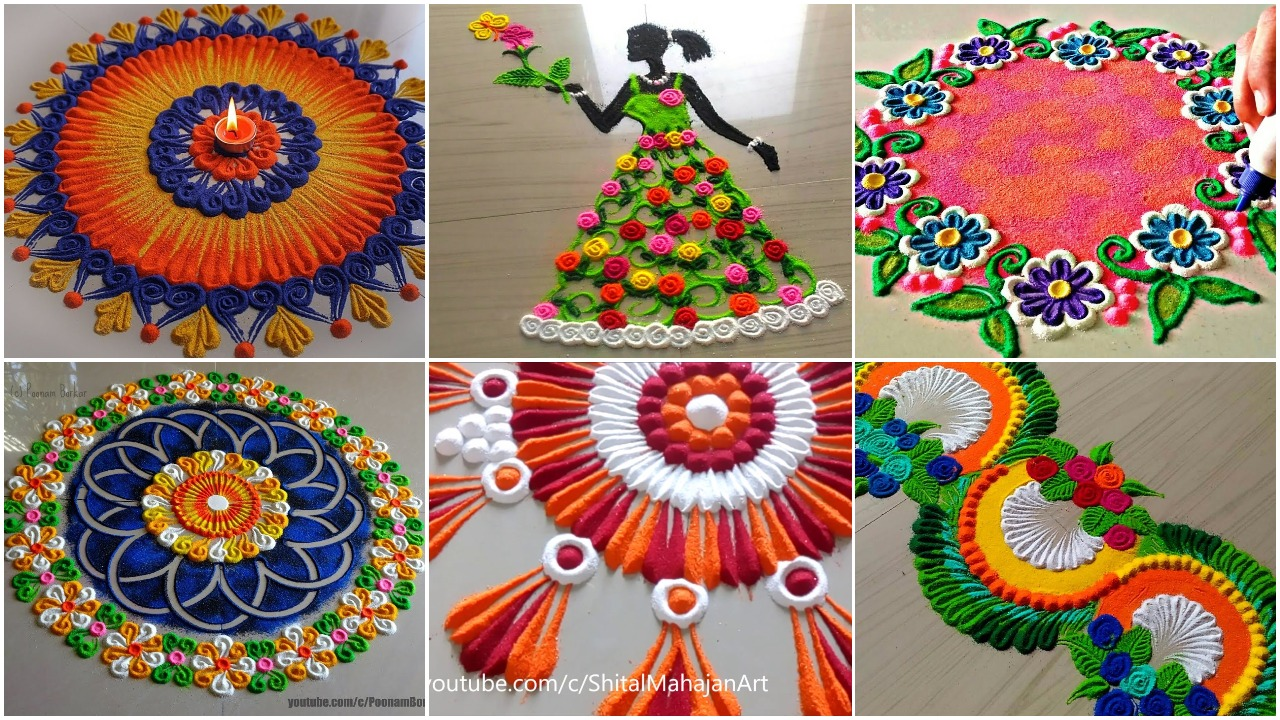 innovative beautiful rangoli