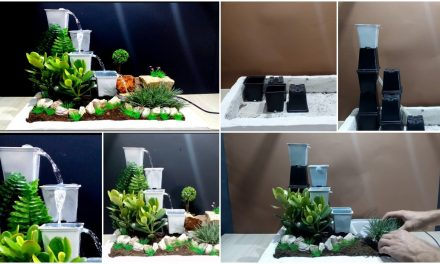 How to make fountain using plastic pots