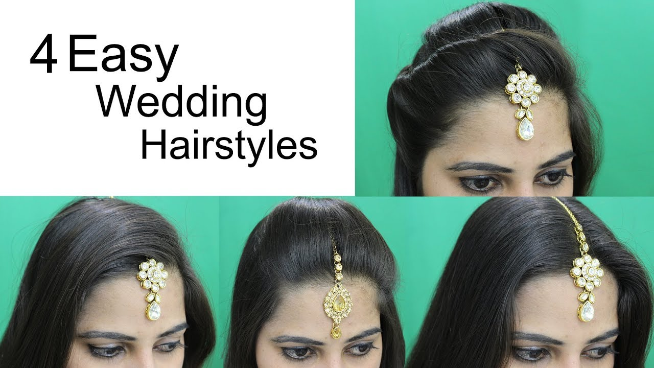 4 Easy Hairstyles For Wedding Simple Craft Ideas